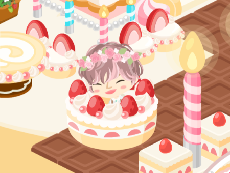 in ケーキ